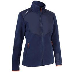 女款保暖航海刷毛外套Sailing 500-軍藍色