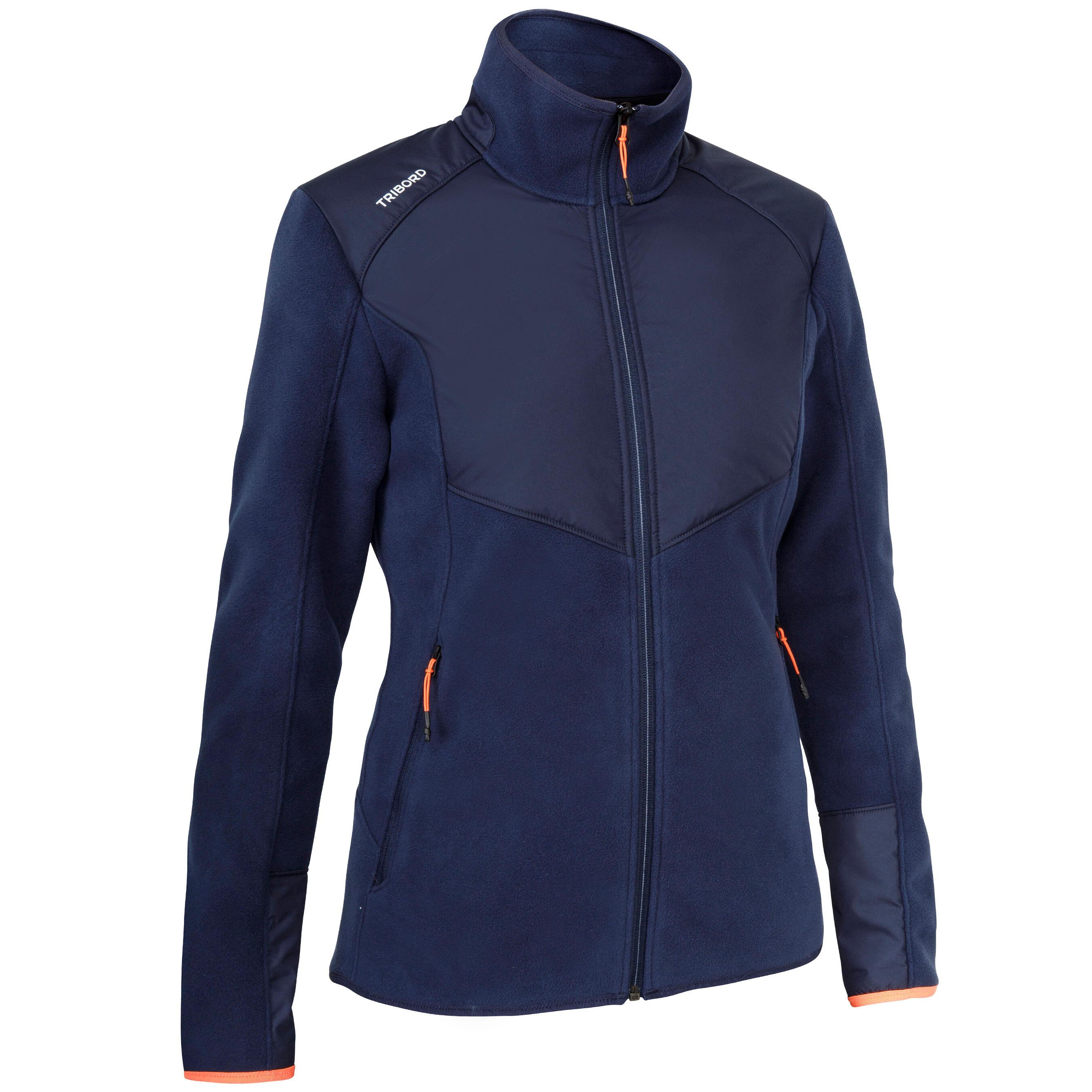 Tribord Warme damesfleece Inshore 900 voor zeilen marineblauw