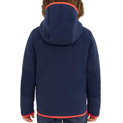 500 Kids' Reversible Sailing Fleece - Navy Pink