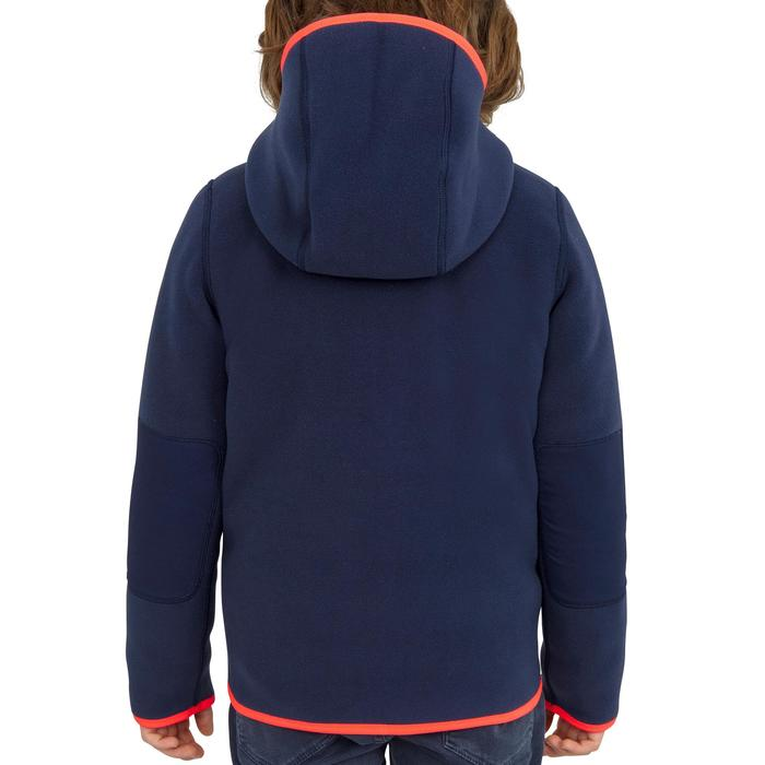 Kids' Reversible Fleece 500 - Navy Pink