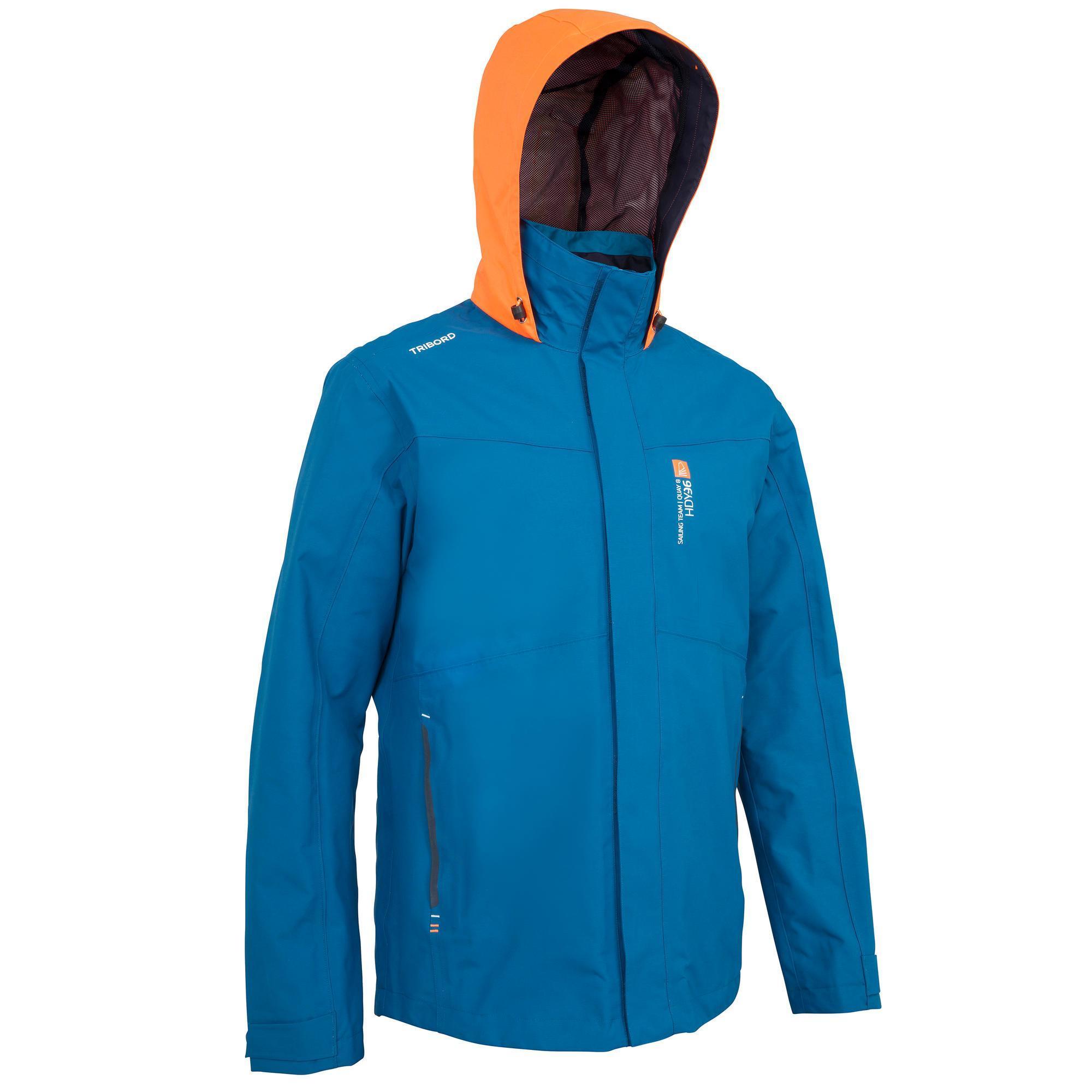 Tribord Zeiljas 100 voor heren, blauw/oranje