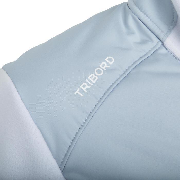 Warme damesfleece Inshore 900 voor zeilen grijs wit