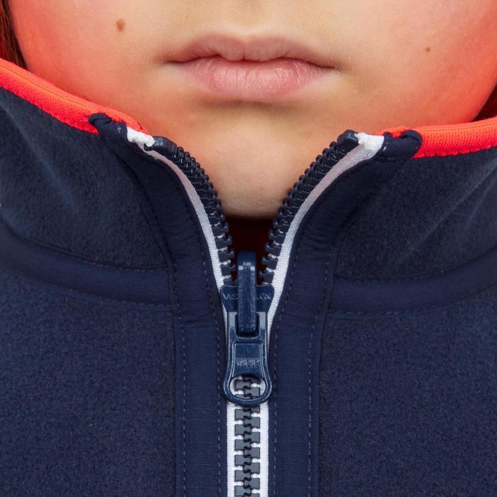 Fleecejacke Segeln 500 wendbar Kinder marineblau/rosa