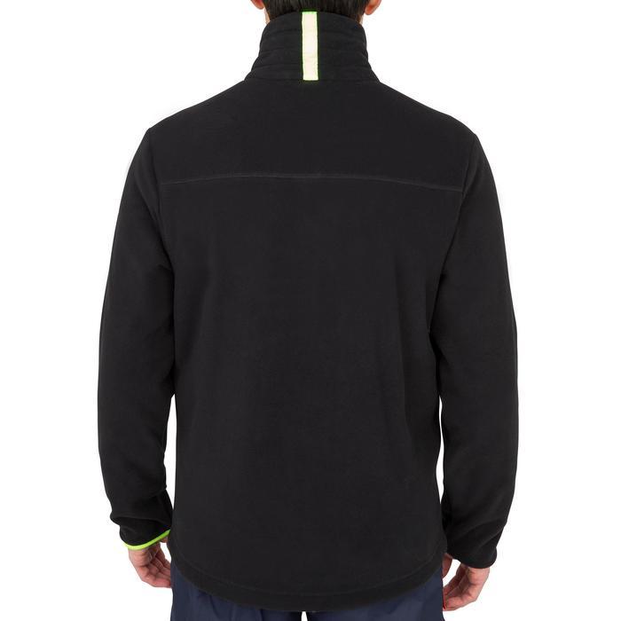 Warme fleece voor zeilen heren Sailing 100 zwart/geel
