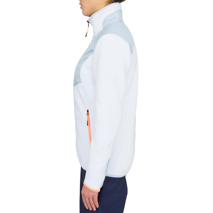 Fleecejacke Segeln warm Inshore 900 Damen grau/weiß