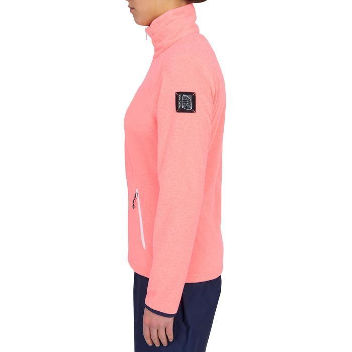 Fleecejacke Segeln Race 100 wasserabweisend Damen koralle-neon