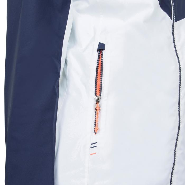Segeljacke wasserdicht Inshore 100 Damen blau/weiß