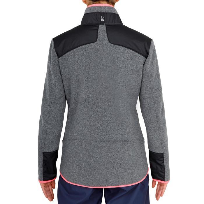 Fleecejacke Segeln warm Inshore 900 Damen grau/schwarz