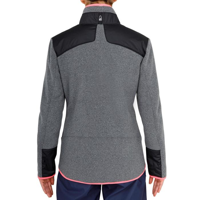Warme fleece voor zeilen dames Sailing 500 zwart/grijs