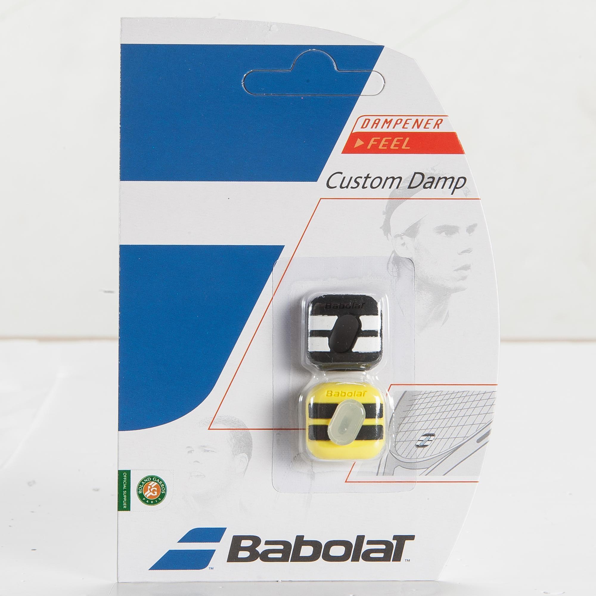 Babolat Trillingdemper tennis Custom Damp Aero zwart en geel kopen