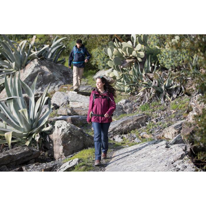 Chaqueta 3en1 trekking viaje TRAVEL 100 mujer rosa