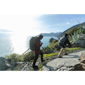 Veste 3en1 trekking voyage TRAVEL 100 homme rouge