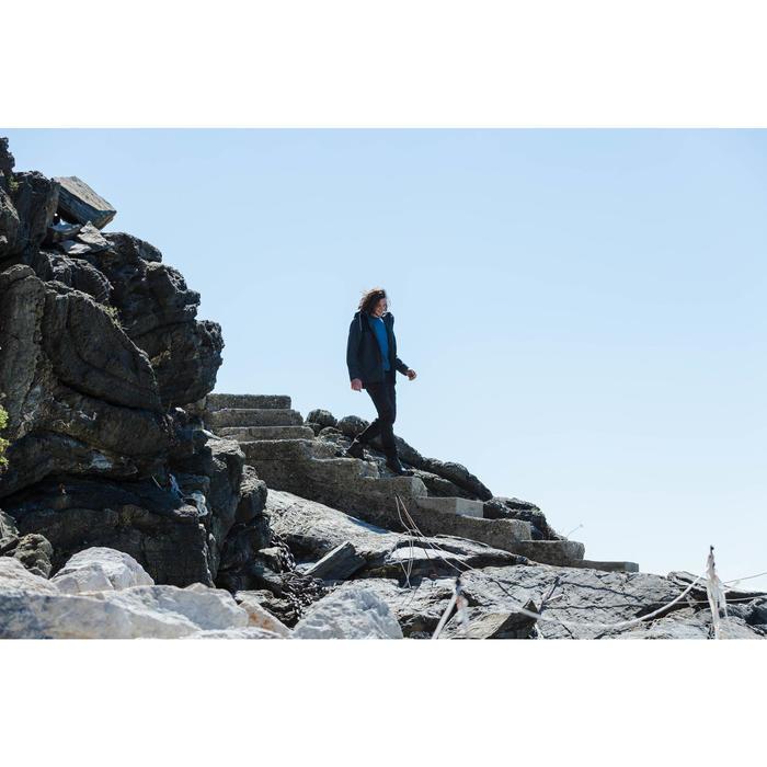 Chaqueta 3en1 trekking viaje TRAVEL 100 hombre gris