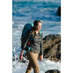 Damesshirt met lange mouwen voor trekking Travel merinowol