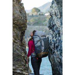 Sac à dos 70 litres de trek voyage - TRAVEL 500 gris femme