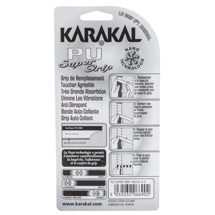 Grip Squash Karakal Super Grip PU x2 Blanco