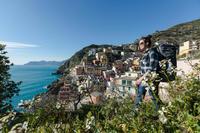 Camisa manga larga trekking TRAVEL 100 warm mujer cuadrada gris