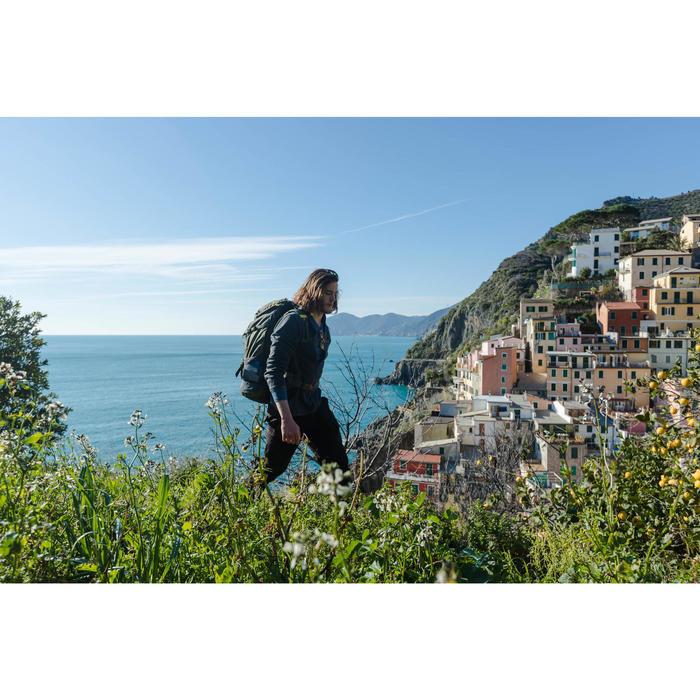 Pantalon de trek voyage - TRAVEL 100 gris homme