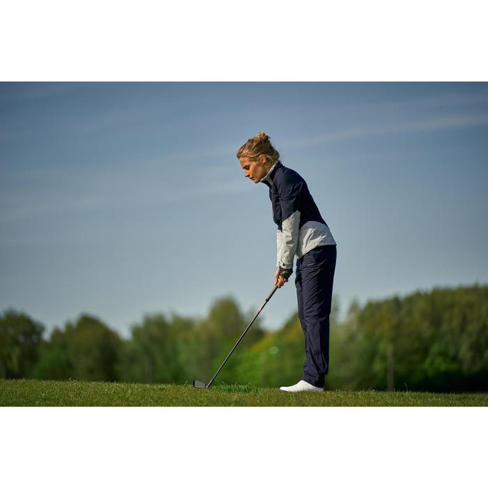 Women's Golf Rain Jacket - Navy and Grey