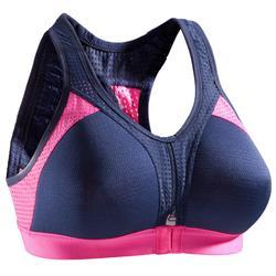 Brassière Power fitness cardio-training femme noire 900