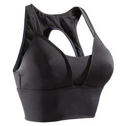 Brassière cardio fitness femme noire 120