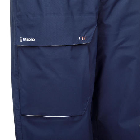 Sailing 100 Women's Waterproof Sailing Overpants - Navy