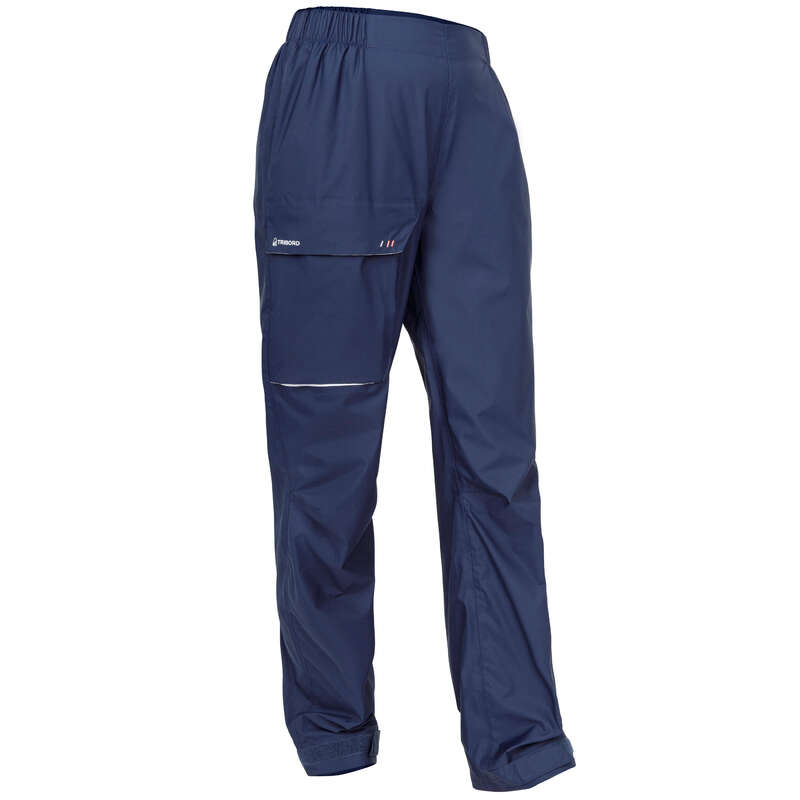 CRUISING RAINY WEATHER WOMAN CLOTHES Sailing - Sailing 100 W Overtrouser Navy TRIBORD - Sailing Clothing
