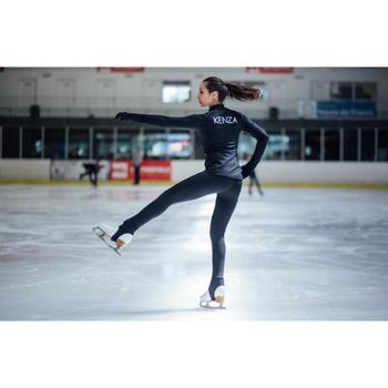 Trainingsjacke Eiskunstlauf Erwachsene schwarz