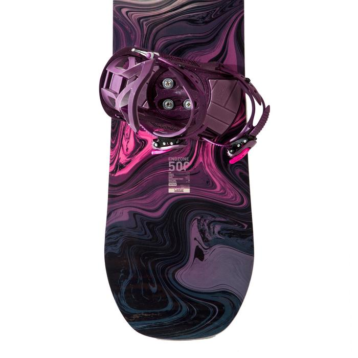 Pack Snowboard freestyle, femme, Endzone 500, violet
