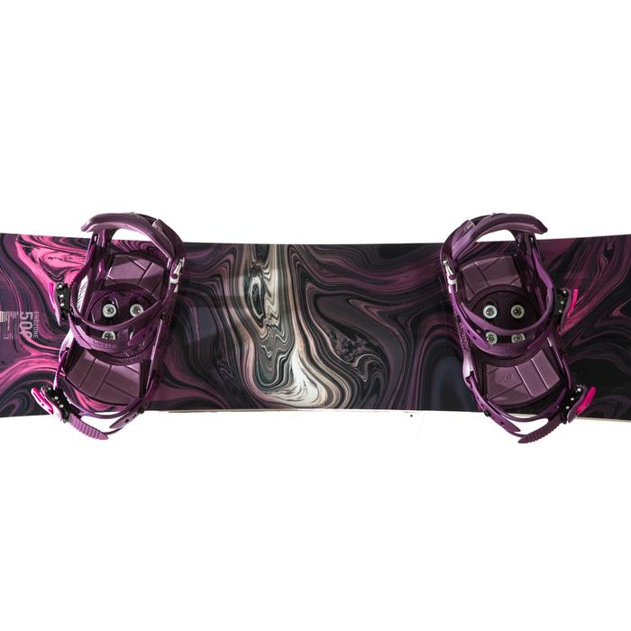 Pack planche de snowboard freestyle & all mountain, femme, ENDZONE 500