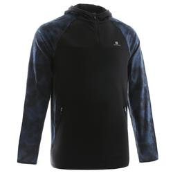 FSW500 Cardio Fitness Sweatshirt - Black/Grey/Blue