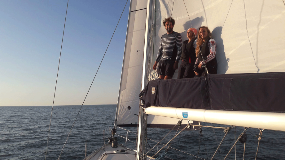 Backstage at the shoot Sailing with Tribord
