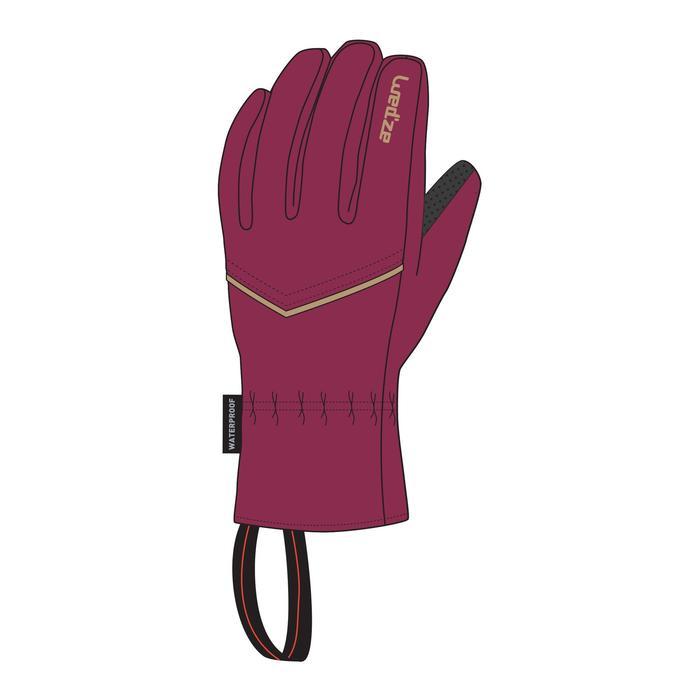 Ski handschoenen dames paars voor pisteskiën volwassenen 100