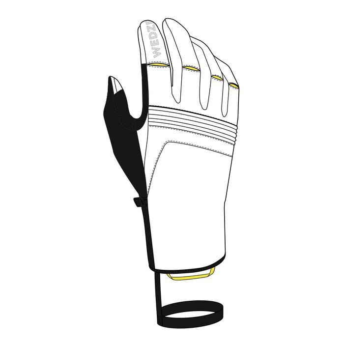 Leren handschoenen heren ski - wit 900 Wed'ze