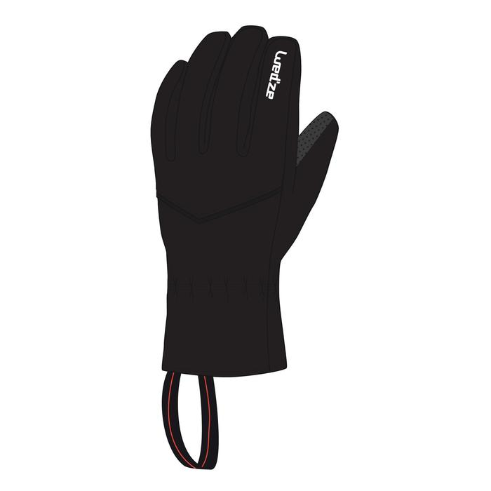 ADULT SKI GLOVES 100 - BLACK