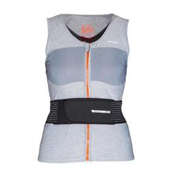 Gilet protection dorsale de snowboard (et de ski) femme DBCK 500 grise