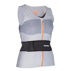 Gilet protection dorsale de planche à neige et de ski femme DBCK 500 grise