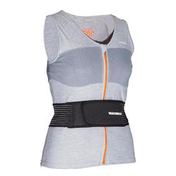 Snowboard back protection vest and women's DBCK 500 - grey