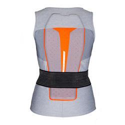 Gilet protection dorsale de ski et snowboard femme DBCK 500 grise