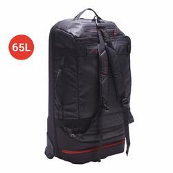 滾輪式團體運動包Away 60L-黑色/紅色