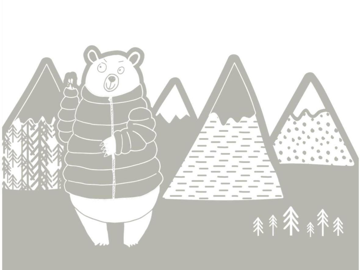 colouring-children-mountain-bear