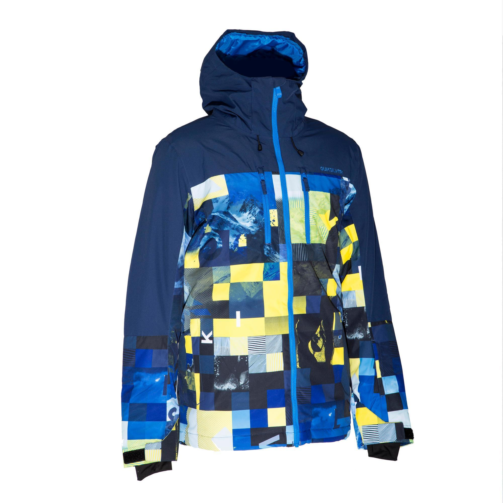 Quiksilver Heren ski-jas Quiksilver Yebow block blauw thumbnail