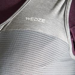 Chaleco de protección dorsal de snowboard y esquí mujer DBCK 500 gris