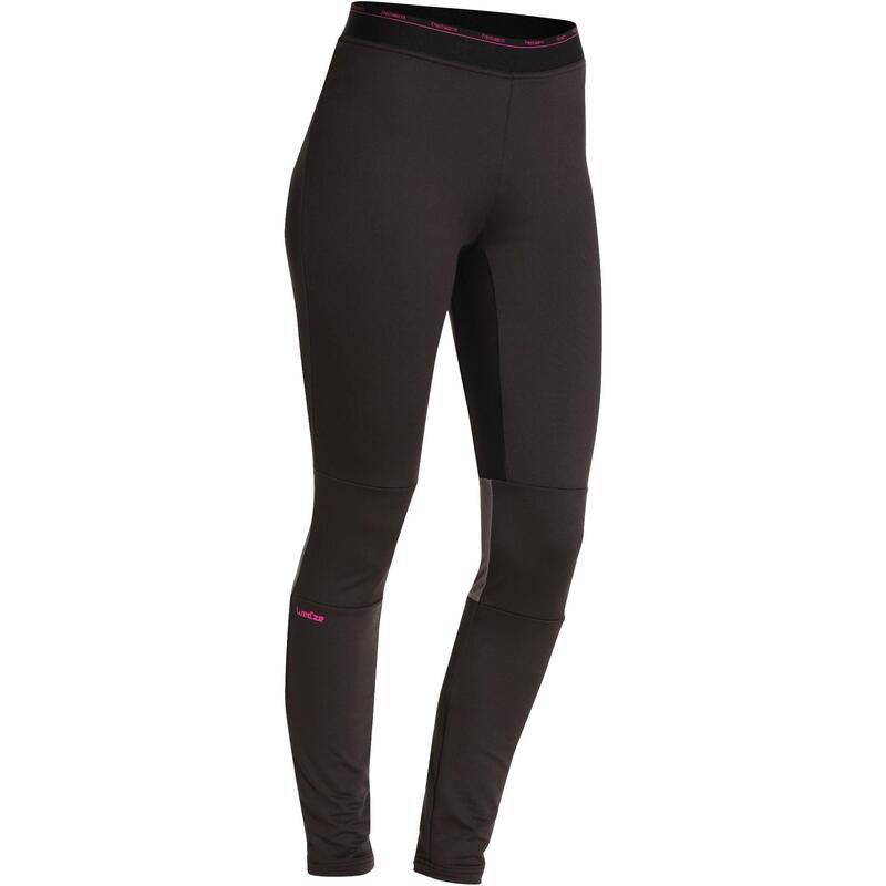 Women's Base Layer Ski Bottoms Freshwarm - Black
