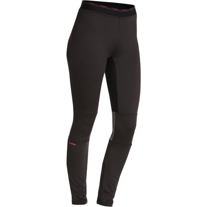 女款滑雪底層長褲FreshWarm - 黑色