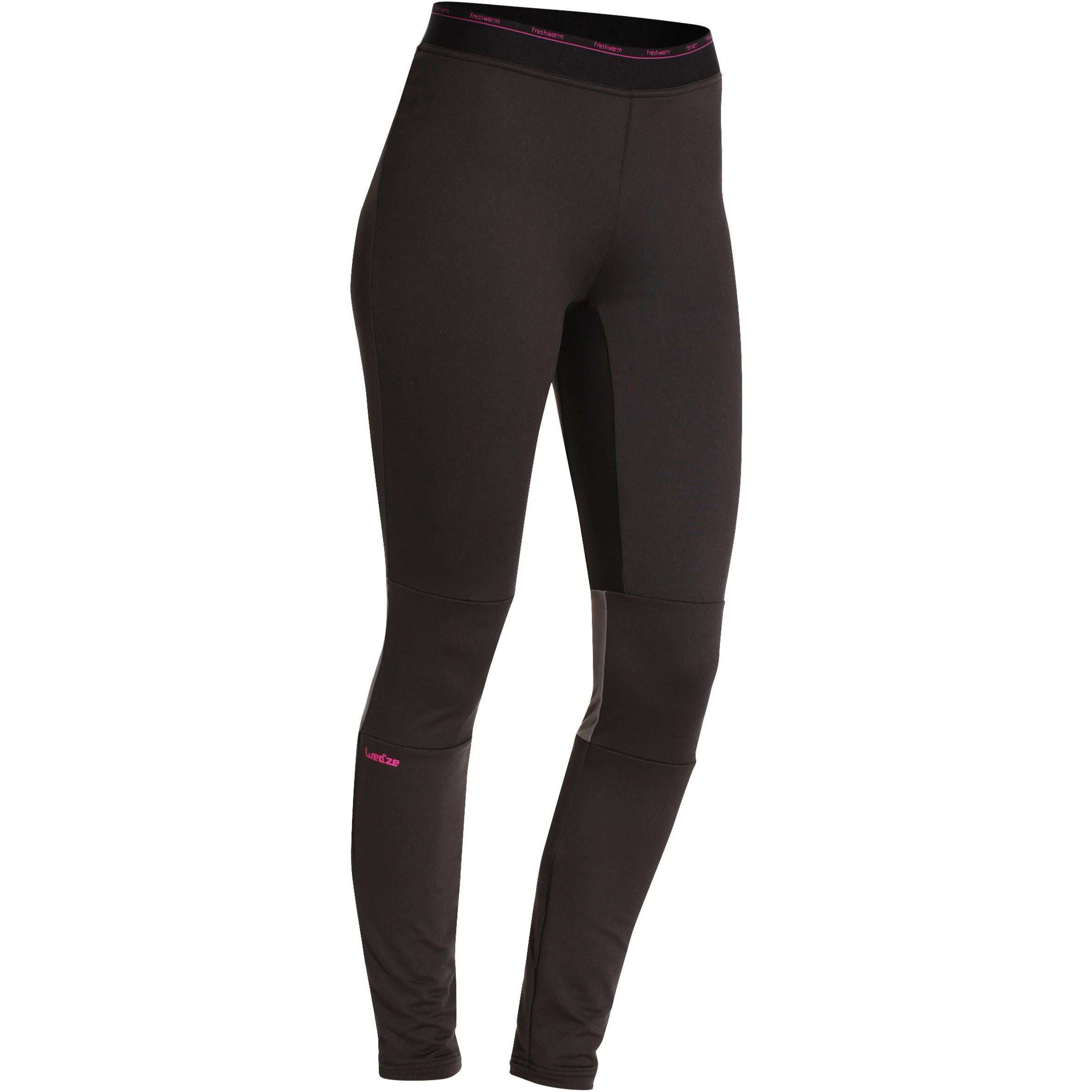 Skiunterhose Funktionshose FreshWarm Damen schwarz | Sportbekleidung > Funktionswäsche > Thermounterwäsche | Schwarz | Polyester | Wed´ze