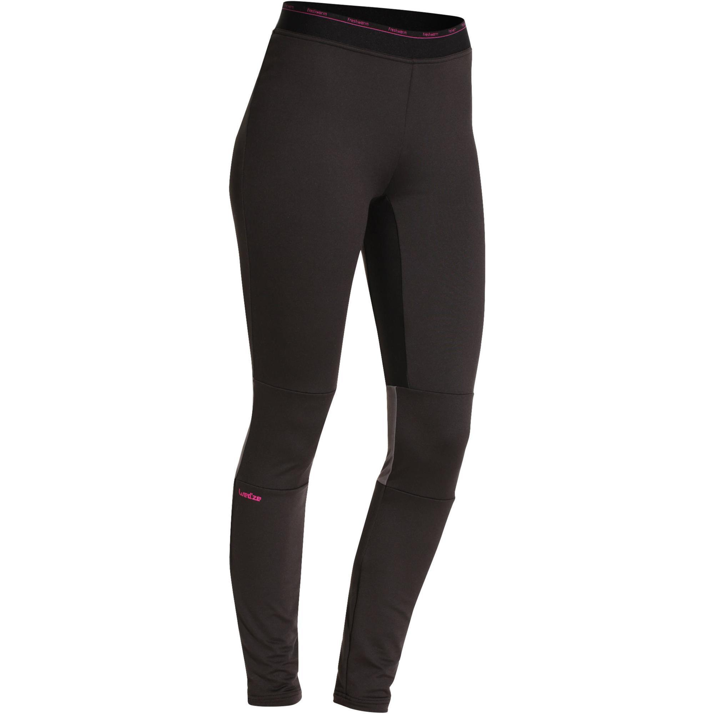Wed'ze Thermische skionderbroek voor dames Freshwarm zwart