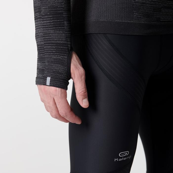 Ademend hardloopshirt met lange mouwen voor heren Kiprun Skincare zwart
