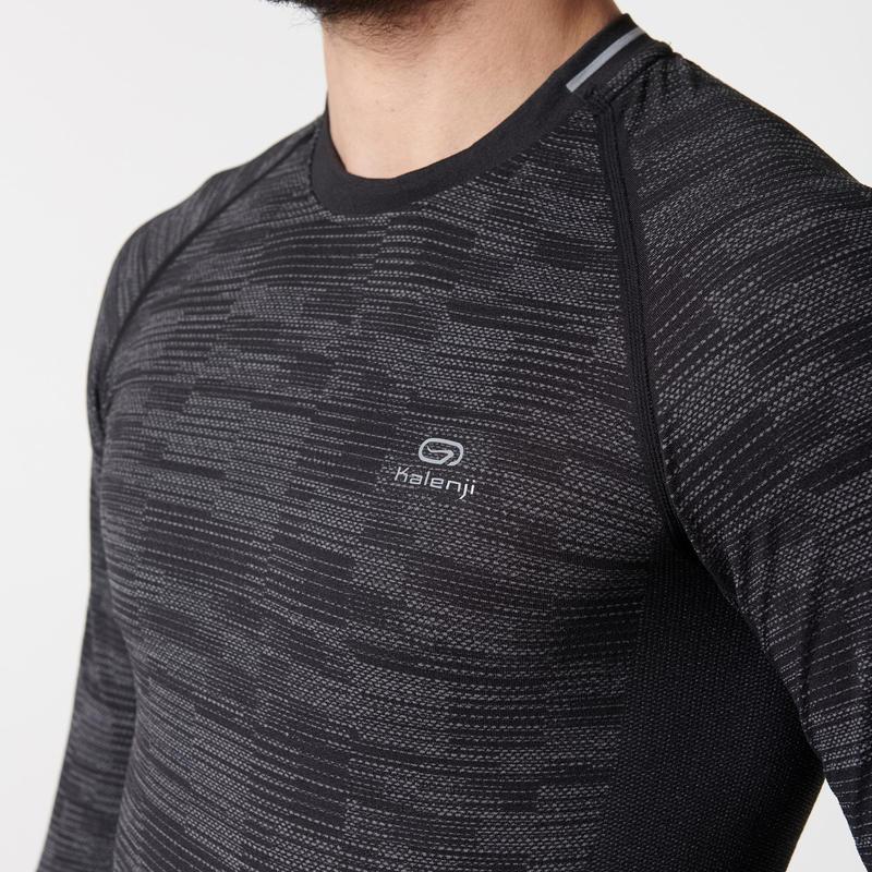Kalenji Kiprun Skincare Men's Running Long-sleeved T-shirt - Black