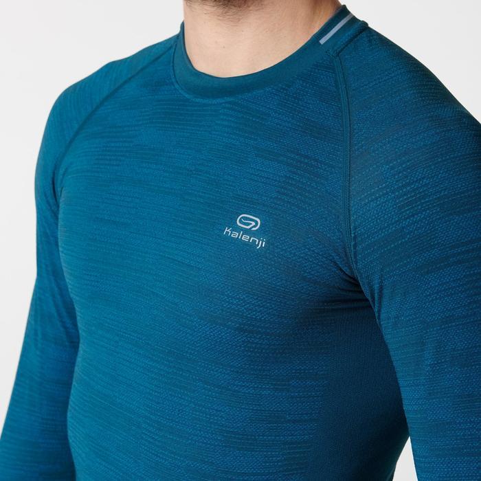 Hardloopshirt met lange mouwen heren Kiprun Skincare Kalenji blauw/turquoise